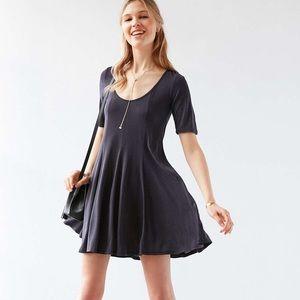UO Beverly Swing Cupro Shirt Dress (NWT)